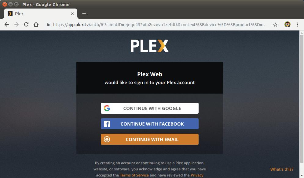 plex on debian server