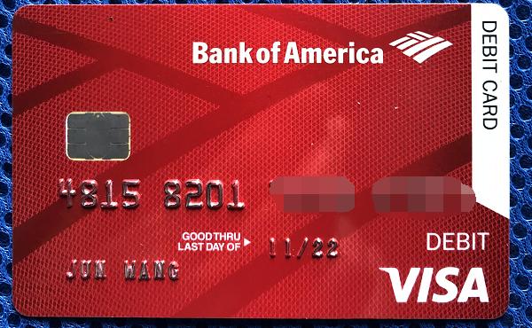 BOA借记卡